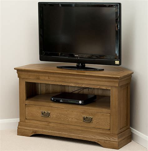 farmhouse rustic solid oak corner tv cabinet