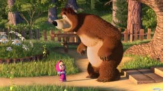 marsha bear 3d animation kids series film wallpaper dark brown hairs