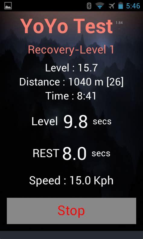 yo yo intermittent recovery test yo yo intermittent test android apps on play