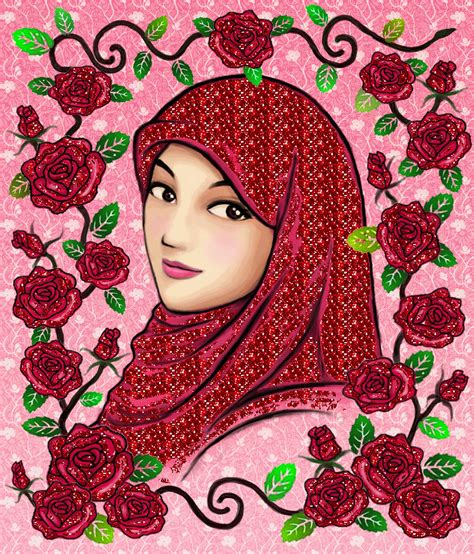 wallpaper animasi hijab gambar wallpaper kartun hijab gudang wallpaper