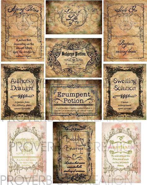 harry potter potion labels templates potion labels water walker events design planning