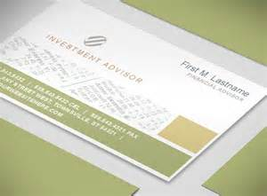financial advisor business cards document moved