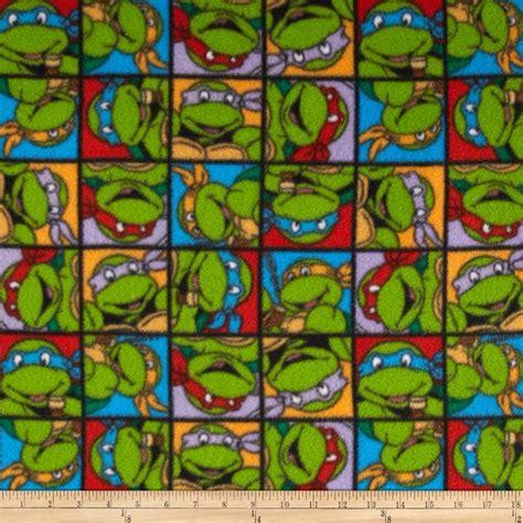 ninja pattern fabric nickelodeon teenage mutant ninja turtles fleece turtle