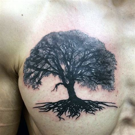 chest tattoo tree 60 tree roots tattoo designs for men manly ink ideas