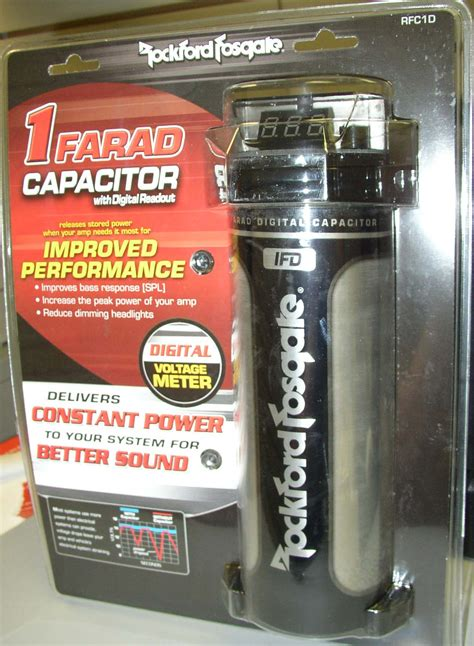 farad audio capacitor rockford fosgate 1 farad digital capacitor new rfc1d ebay