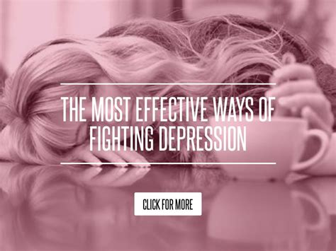 The Most Effective Ways Of Fighting Depression by The Most Effective Ways Of Fighting Depression Health