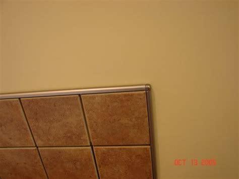 bathtub edge trim chrome schluter edge to finish tile instead of bullnose
