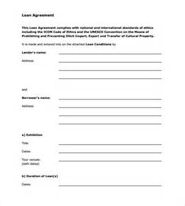 Personal Contract Template by Sle Loan Agreement 6 Free Documents In Pdf