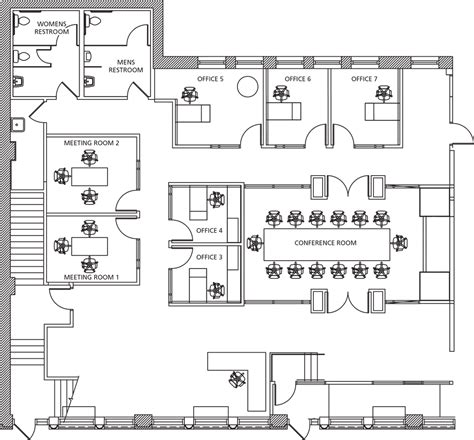 floor plan business office rentals 600 east business center