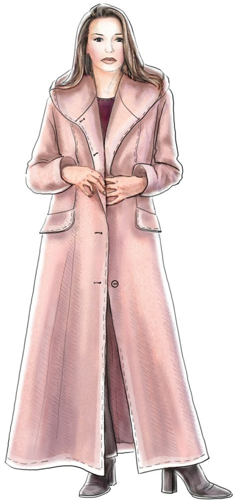 pattern sewing coat long coat with hood sewing pattern 5186 made to