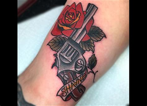 tattoo old school revolver classic tattoo styles dark love ink tattoo shop