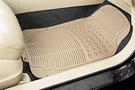 Inside Floor Mats by Zone Tech All Weather Rubber Semi Pattern Car Interior