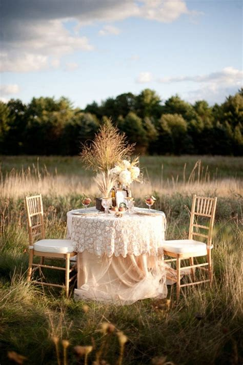 breathtaking outdoor romantic table decorations