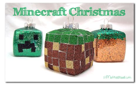 minecraft themed diy christmas ornaments lesson plans