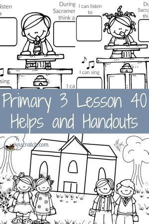 lds coloring pages sabbath day lesson 40 worshiping at church church sabbath day