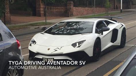 Tyga Lamborghini Tyga Driving A Lamborghini Aventador Sv After Visit To