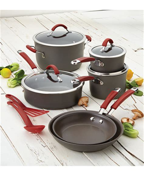 Promo Shinil 12 Pcs Cookware Set rachael cucina anodized nonstick 12 pc cookware set cookware kitchen macy s