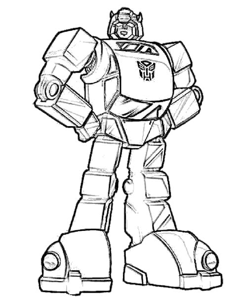 Bumble Bee Transformer Coloring Page Az Coloring Pages Transformer Color Pages