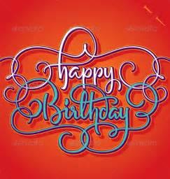 happy birthday hand lettering graphicriver