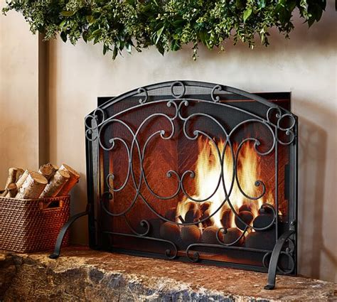Pottery Fireplace by Aspen Fireplace Single Screen Pottery Barn
