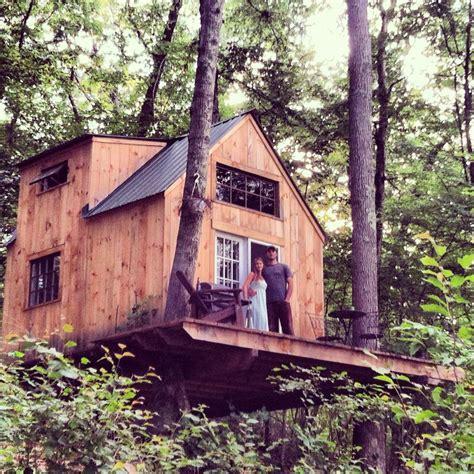 tiny tree house romantic tiny house built by couple for 4000