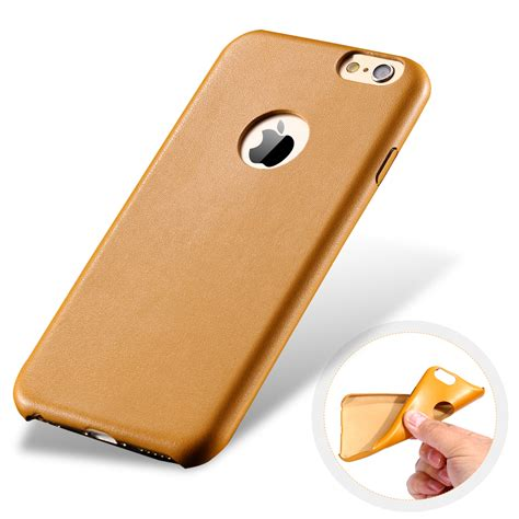 Po Tpu Ultra Thin Leather Back Cover Iphone 5 S 6 S 7 Plus ultra thin slim light soft tpu leather for apple iphone 6 4 7 logo luxury