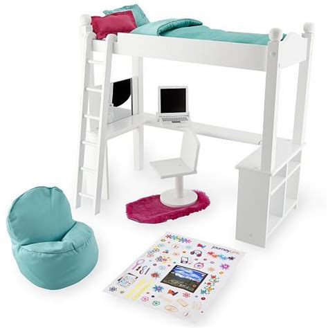 journey girls wood bed  desk combo wood beds toys  toys