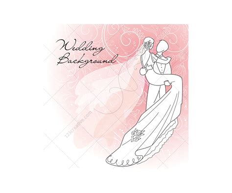 Wedding Card Vectors With Wedding Couple Wedding Card Design Templates And Wedding Vector Cards Card Vector Template