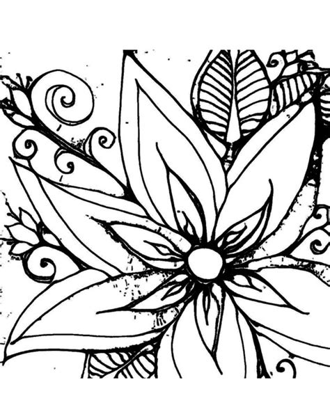 drawings of flowers and vines clipart best