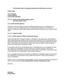 Sample Letter To Remove Items From Credit Report Credit Inquiry Removal Credit