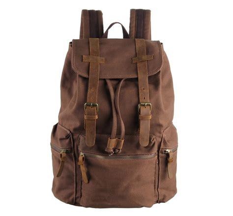 G U C C I Syahrini Leather Kulit mochila vintage de homem coffee malas de homem