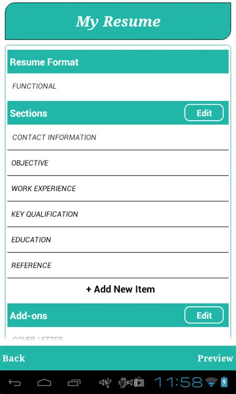 Android Resume App From Background Smart Resume Builder Cv Free Android Apps On Play