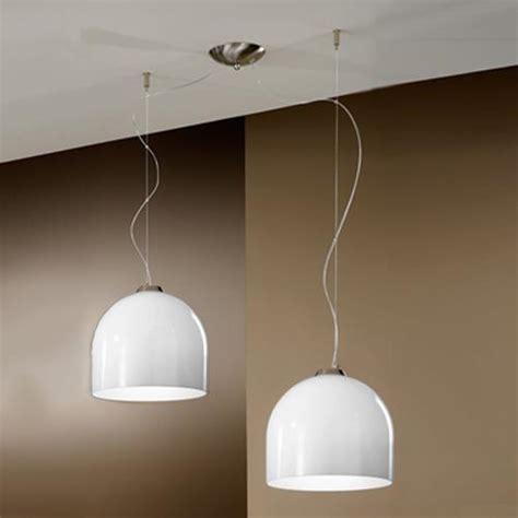 lampadario moderno  sospensione doppia bowl