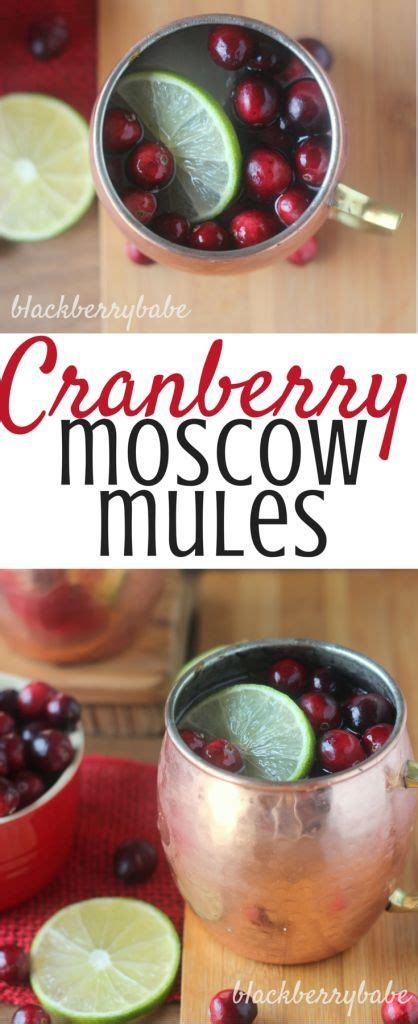 cranberry moscow mules   perfect easy thanksgiving