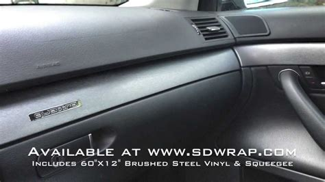 How To Wrap Interior Trim by Brushed Steel Vinyl Interior Trim Wrap On An Audi A4