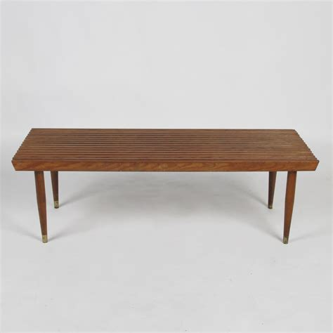 Coffee Shop Bench by 1950s Slat Bench Coffee Tablesold At City Issue Atlanta
