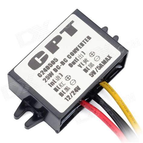 Baru Dc 12v To 5v 5a Car Power Supply Converter Penurun Tegangan 12v 224 5v 24v 224 5v 5a dc dc abaisseur alimentation de puissance de voiture converter noir