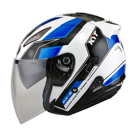 Helm Kyt Warna Biru helm kyt galaxy slide seri 2 pabrikhelm jual helm murah