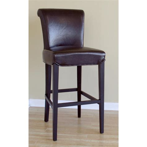 brown bar stools leather wholesale interiors 174 cognac dark brown leather bar stool