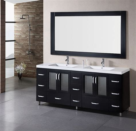 bathrooms with black vanities black bathroom vanity with double sinks 6791