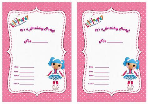Lalaloopsy Birthday Invitations Birthday Printable | lalaloopsy birthday invitations birthday printable