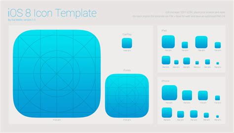 ios app template ios 8 icon template vector files 365psd