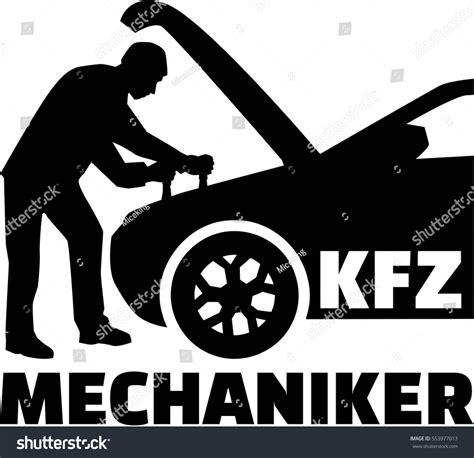 german motor mechanics motor mechanic silhouette german title image