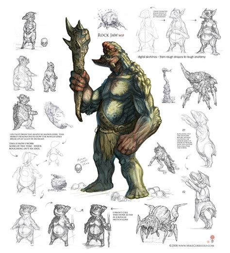 desain gamis artis character and creature design notes creature design for