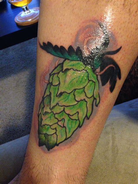 hop tattoo hops home brew