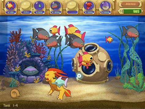 fish computer game cartoon insaniquarium
