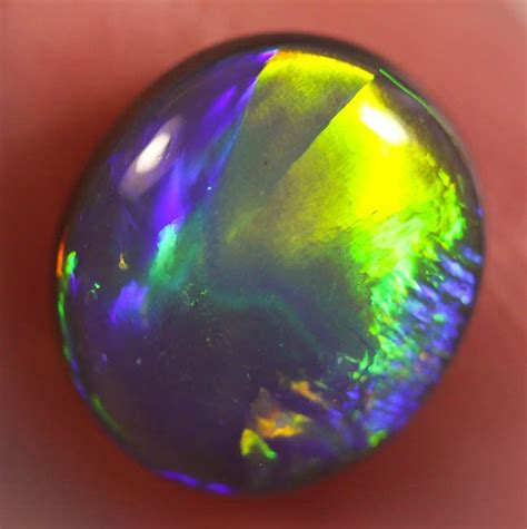 Cincin Black Opal Lightning Ridge australian solid black opal gem 3 95ct gemstone from lightnin