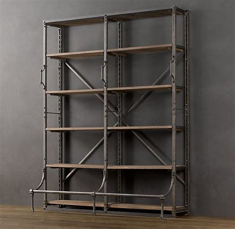 Library Ladder Industrial And Shelves On Pinterest Bookcase Ladder Hardware