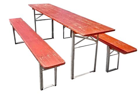 tables and benches vintage german beer garden table w benches omero home