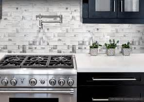 Modern White Kitchen Backsplash Modern Espresso Cabinet White Glass Metal Backsplash Tile